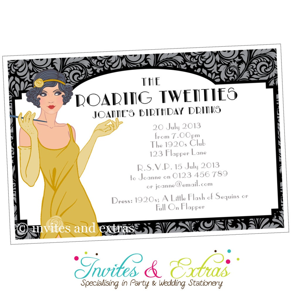 Roaring 20S Invitations was adorable invitations layout