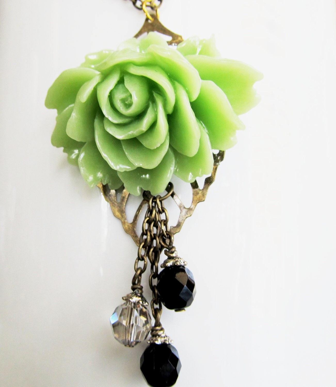 Romantic Flower Rose Necklace