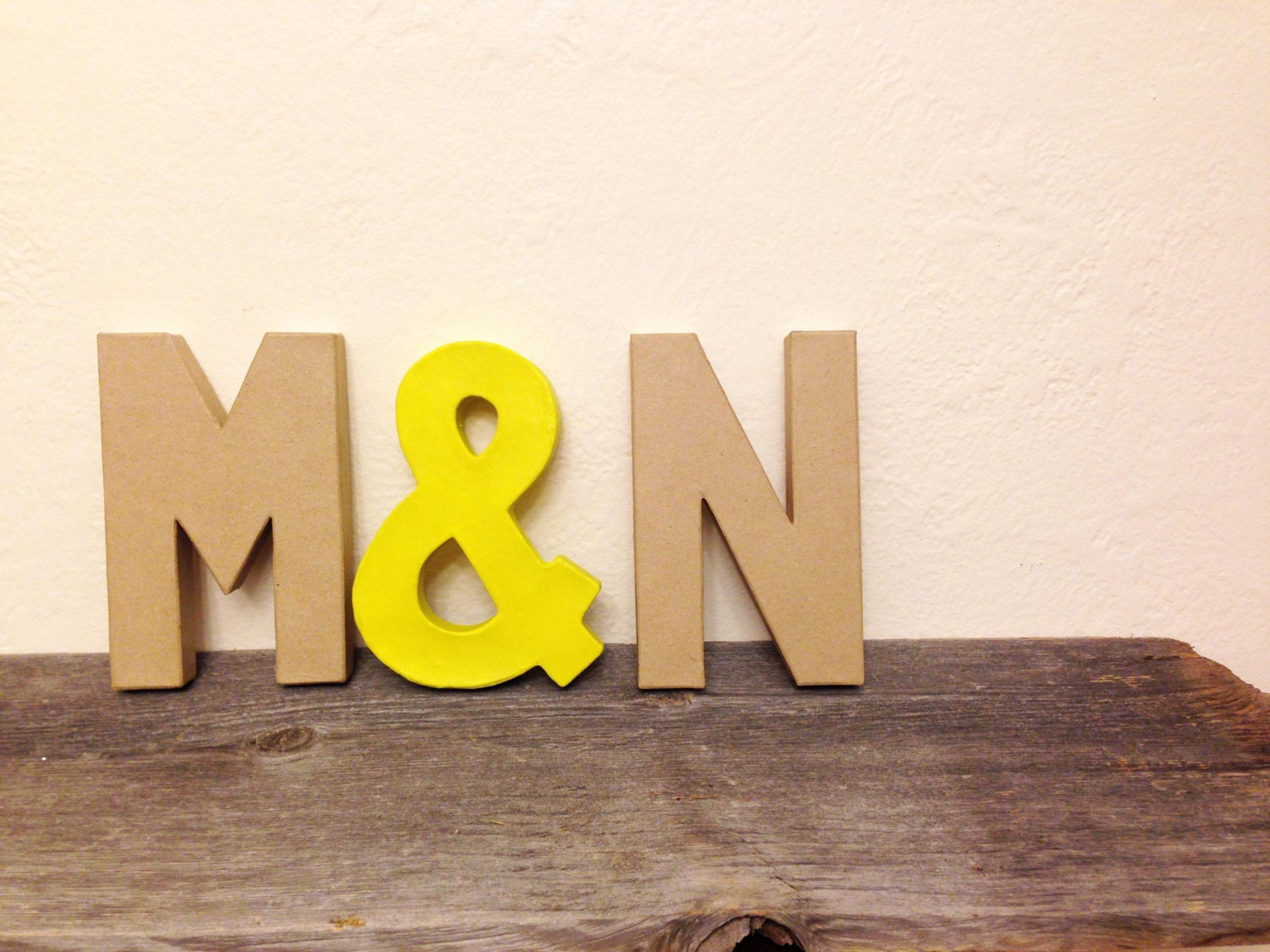 NEON and NATURAL Block Letters - Monogram or Initials - AFreshCoatOfPaint