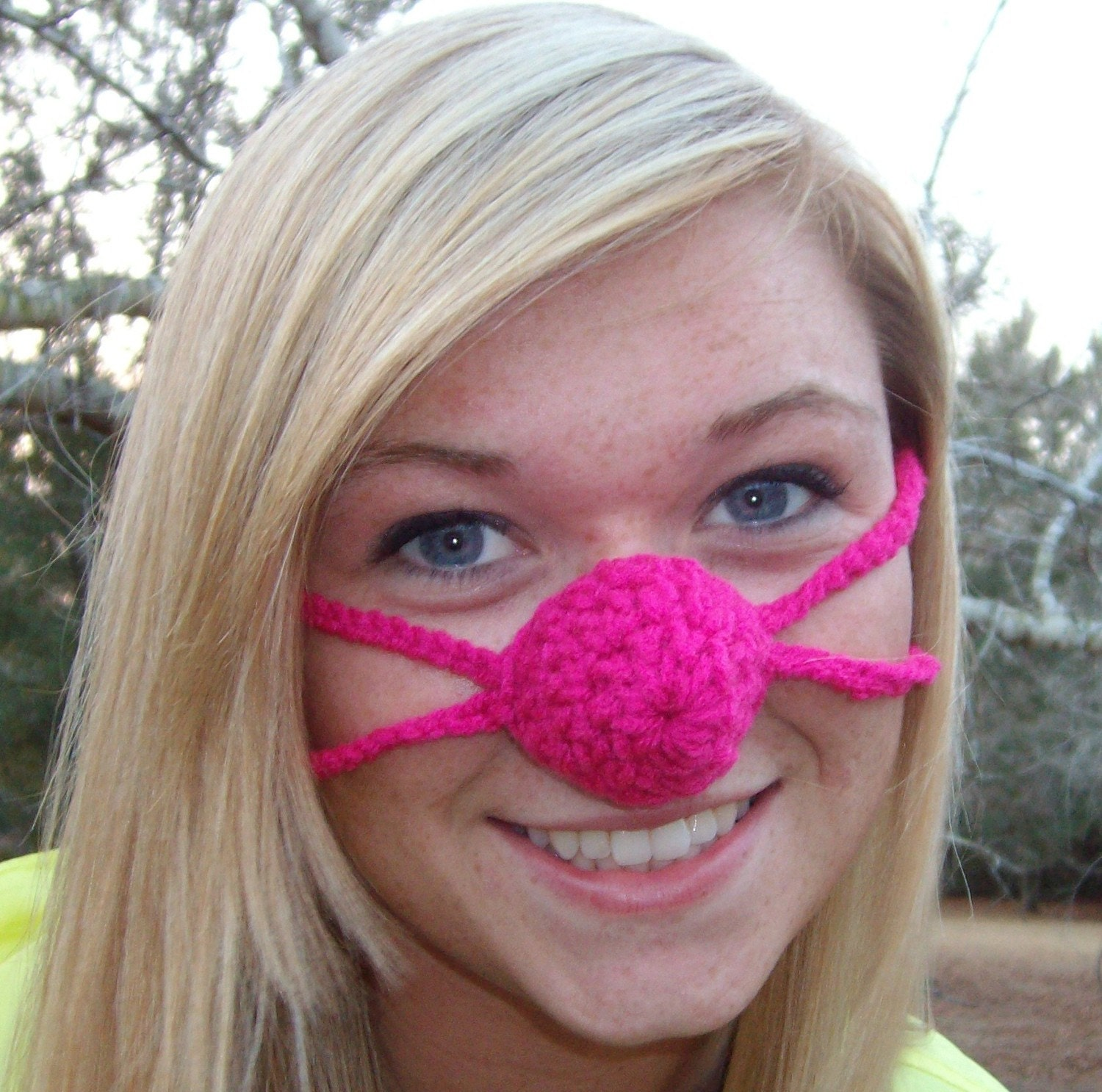 Crochet Nose Warmer : ... Nose, Nose Warmer, Teen, Tween, Woman, Nose Cozy, Crocheted, Cold Nose