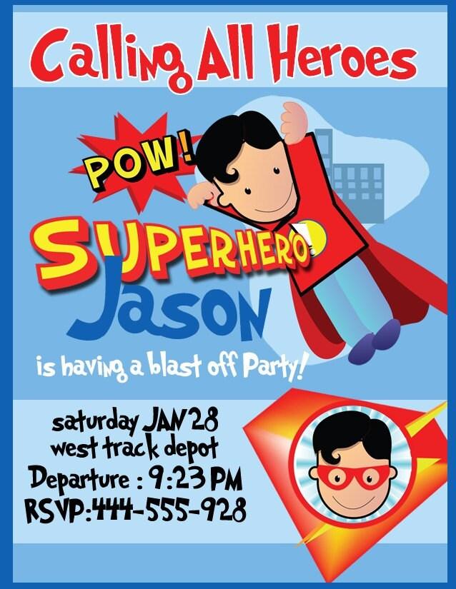 Superhero Party Invites Free as best invitations ideas