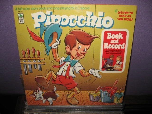 Vinyl Record Album Pinocchio Book and Record LP by ...