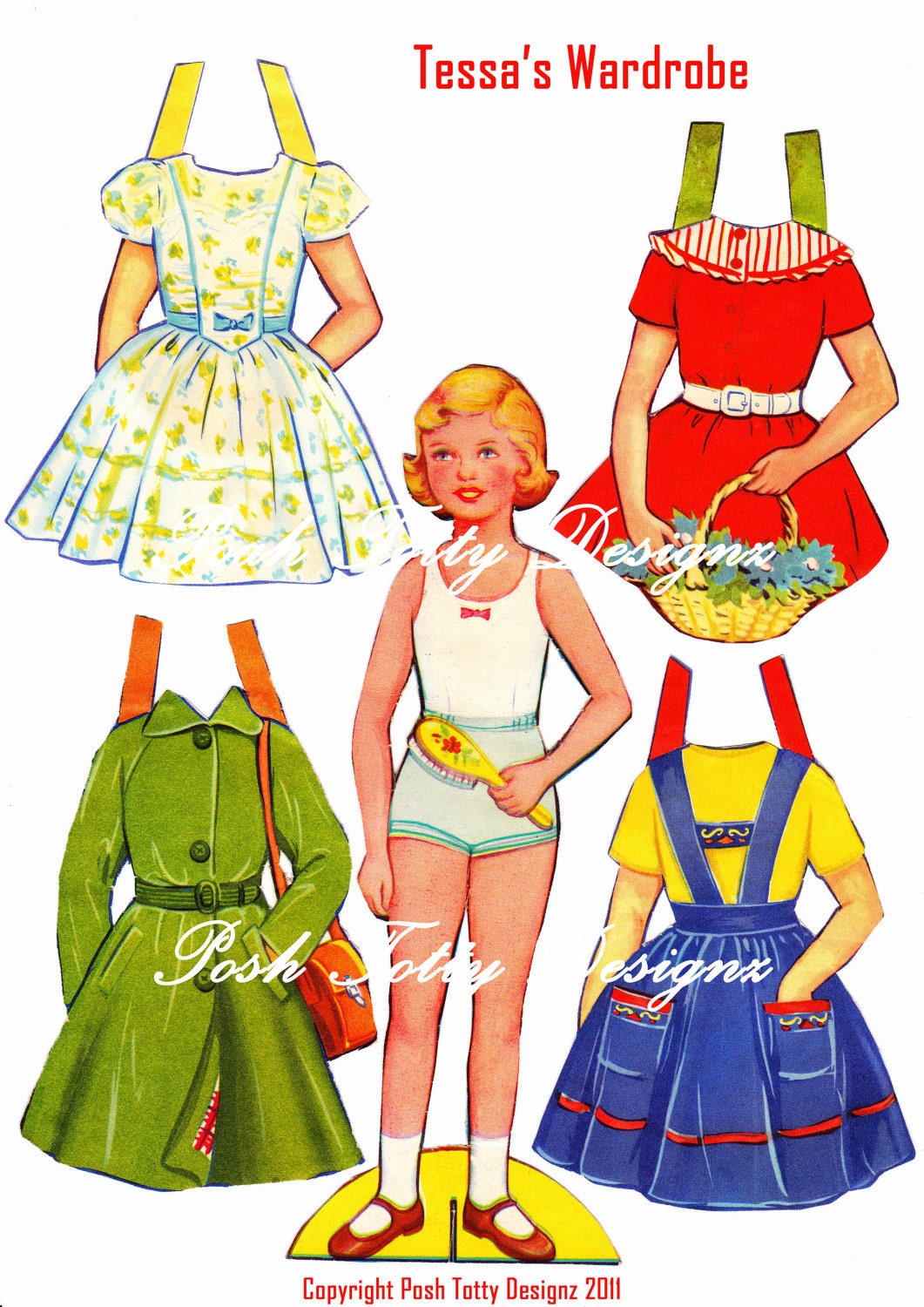 from dolls s paper vintage 1950