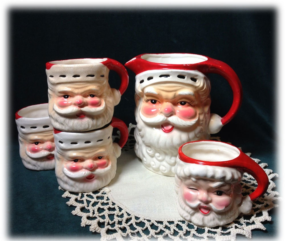 Images Of Old Fashioned Santa Mugs Pitcher