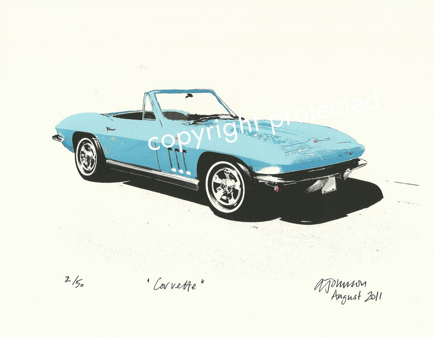 Limited Edition Print: CORVETTE