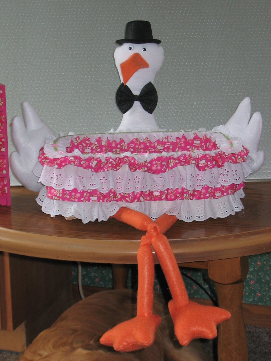 baby shower stork basket decorations not a diaper by craftylady024