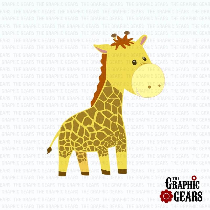 Giraffe Clip Art Cute Baby Giraffe Clip Art by GraphicGears