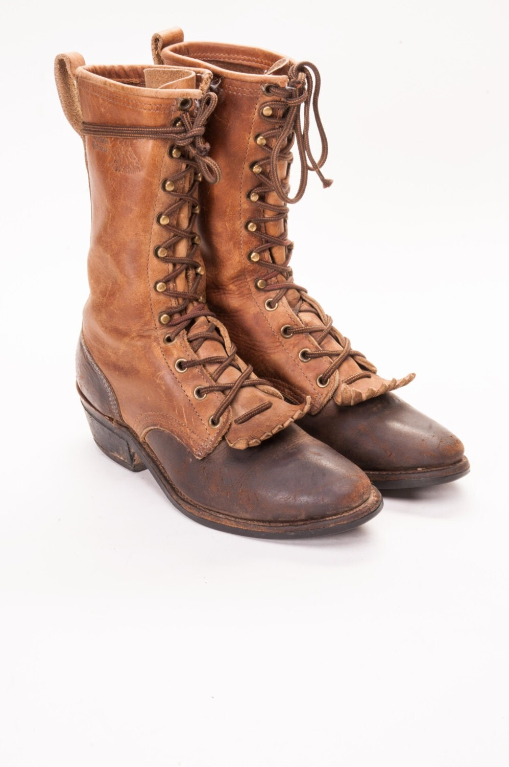 two tone packer boots womens size 6 by