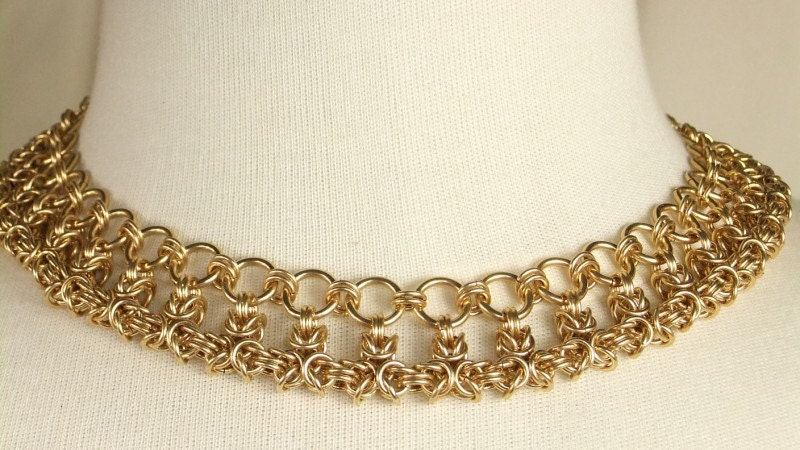 14k Goldfilled Thick Hand Woven Chain