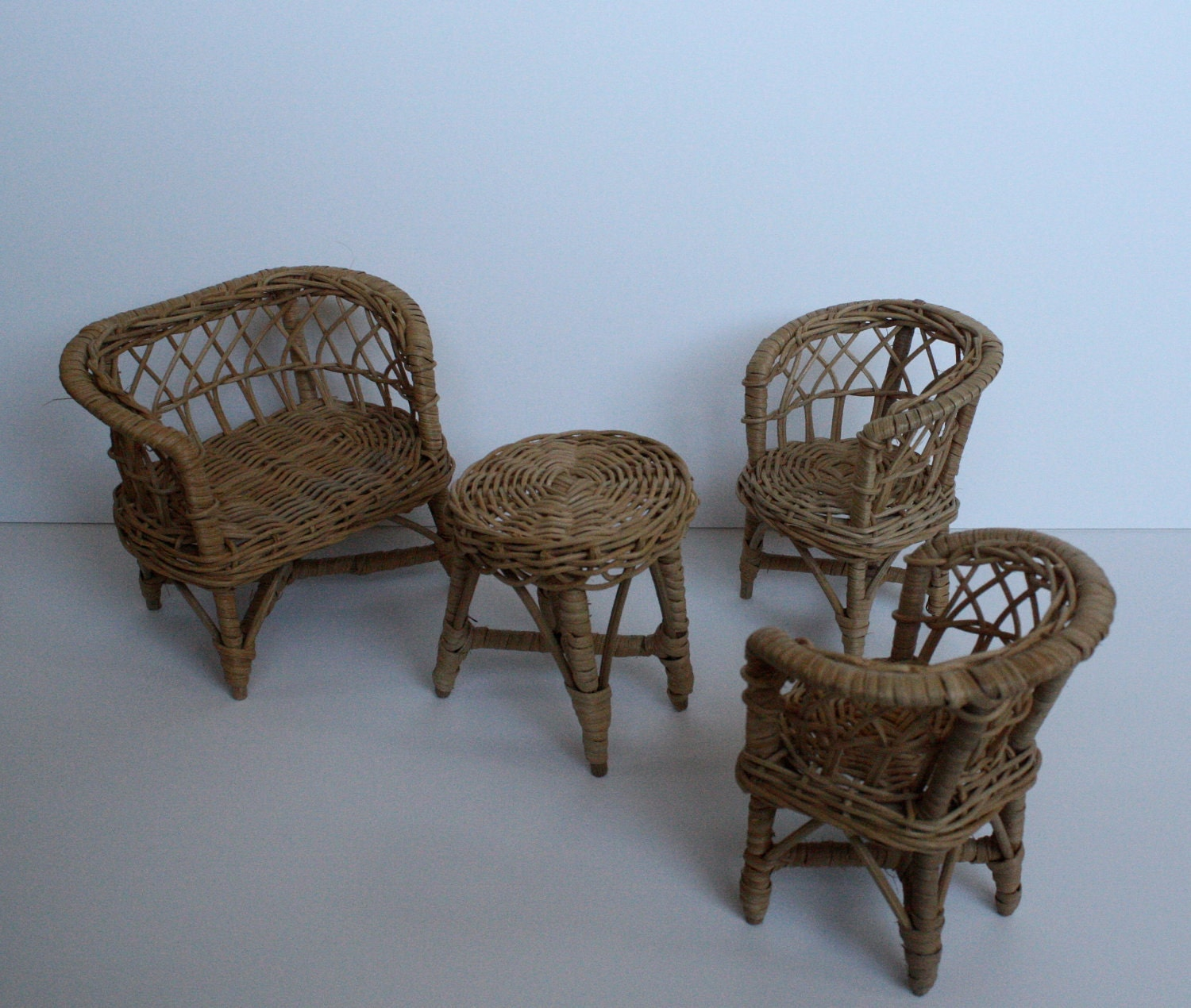 Etsy Vintage Bamboo Furniture: Vintage Barbie Wicker Furniture Set By Grandmaschildhood