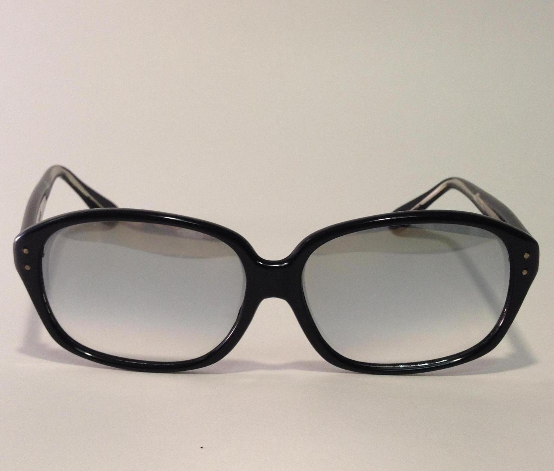 Vintage Mens Hickok Black Rim Sunglasses, Retro - OdettesVintage