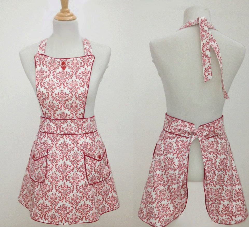 Retro Ladies Kitchen Apron Cata By CookiCostaRica On Etsy