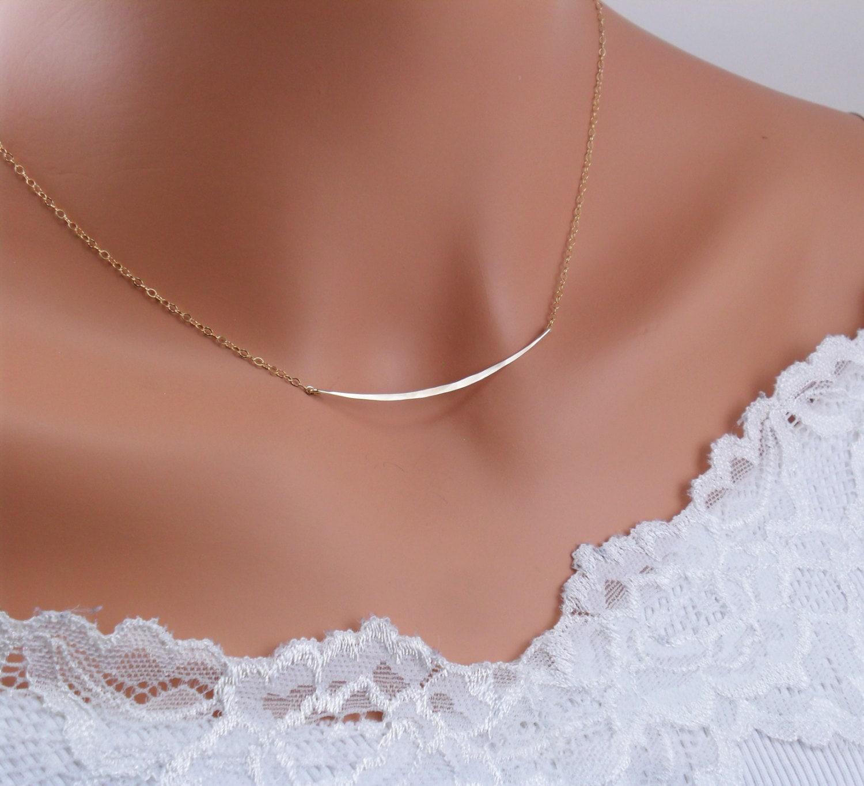 items similar to horizontal gold bar necklacecelebrity. Black Bedroom Furniture Sets. Home Design Ideas