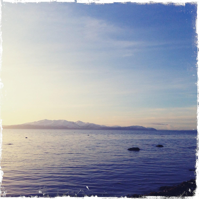 Arran, from Seamill Beach, Scotland - photographic print - AnniesLand