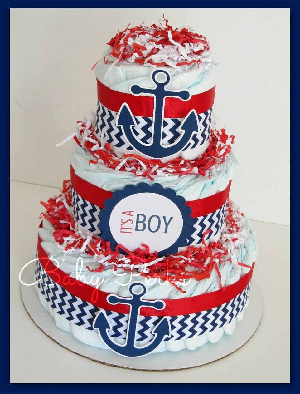 Popular items for nautical diaper cake on Etsy