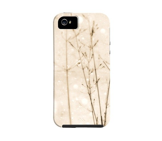 Snow iPhone 5 case, winter, snow, field grass, nature, winter iphone 4 case, iphone 4 case, iphone cover, gift, - semisweetstudios