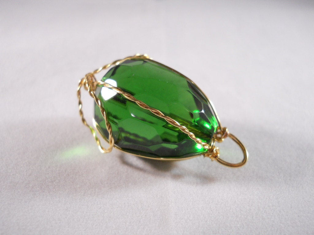 Shop-Wide Sale:    Wire Wrapped Crystal Pendant