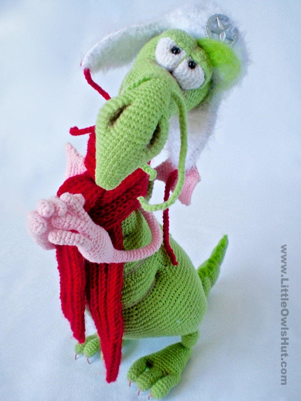 Amigurumi Wire : 026 Dragon toy with wire frame Amigurumi Crochet by ...