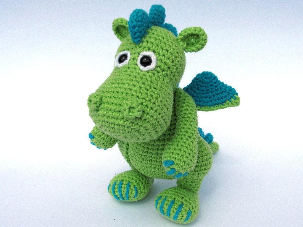 Free Crochet Stuffed Dragon Pattern : Dragon Draco Amigurumi Crochet Pattern / PDF e-Book by ...