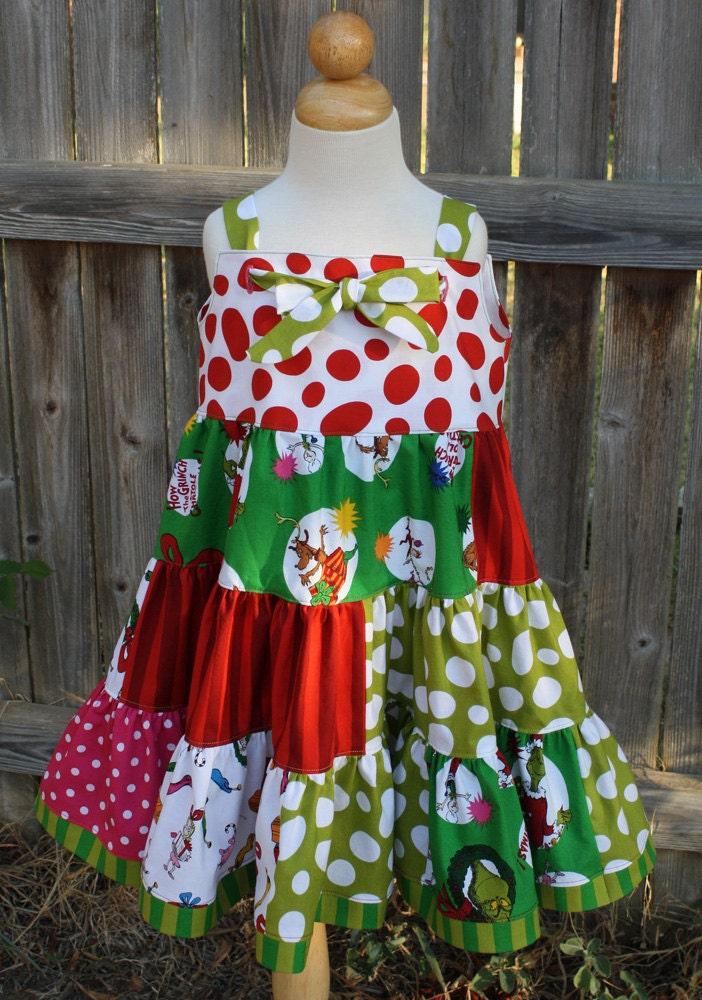 Grinch Twirl Dress