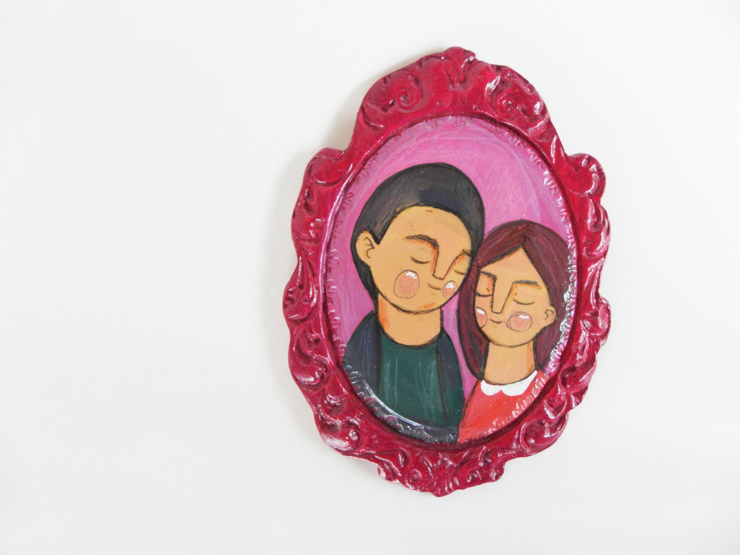 purple lovers frame, wall hanging decoration sculpture - ireneagh