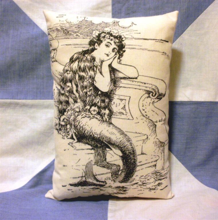 Mermaid Vintage Style Cushion Pillow