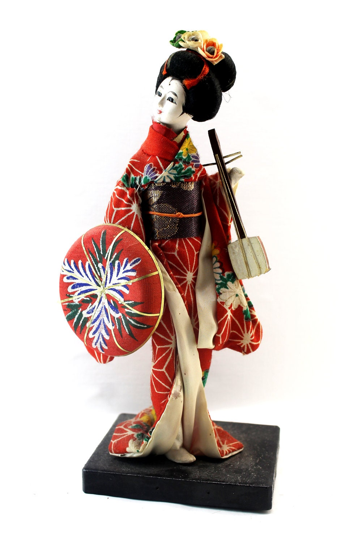 antique geisha doll