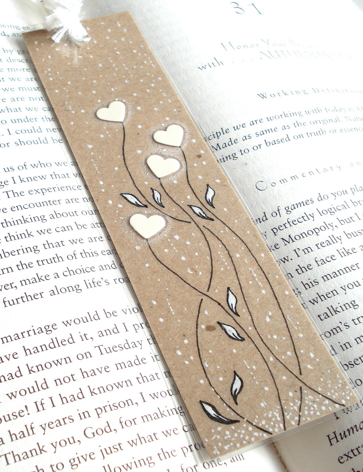 Winter Themed Handmade Bookmark