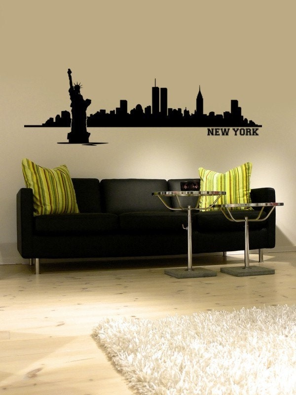Wall Decal New York City Skyline Cityscape By WallStarGraphics