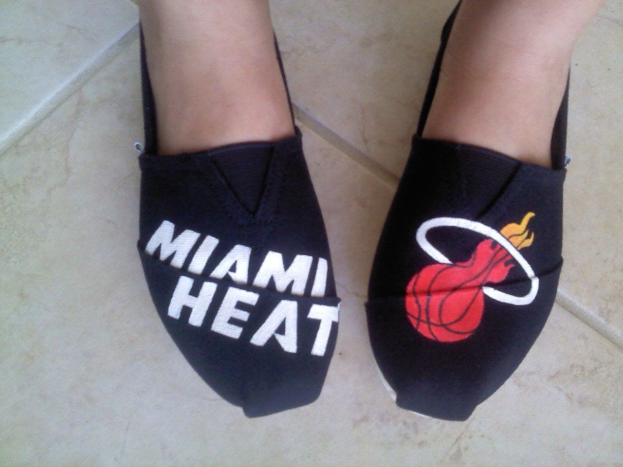Miami Heat custom TOMS shoes (Hand painted)