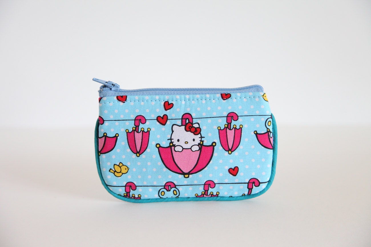 Camera case, Coin purse, wallet, change purse, Hello Kitty print, Point N Shoot Case