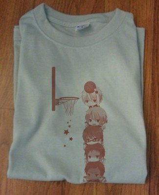 Soft premium quality custom kuroko no basket by for Soft custom t shirts