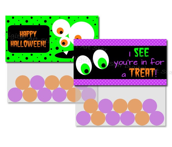 Halloween Treat Bag Toppers - Printable DIY Party Favors - INSTANT ...