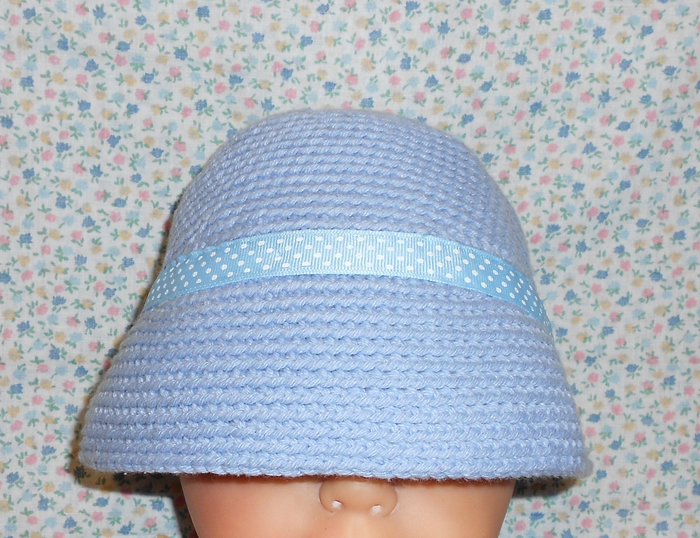 Crochet Hat, Baby Hat, Crocheted Cotton Hat