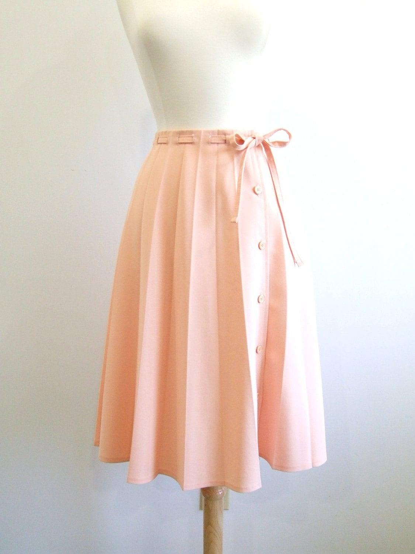 vintage pleated skirt pastel skirt m by