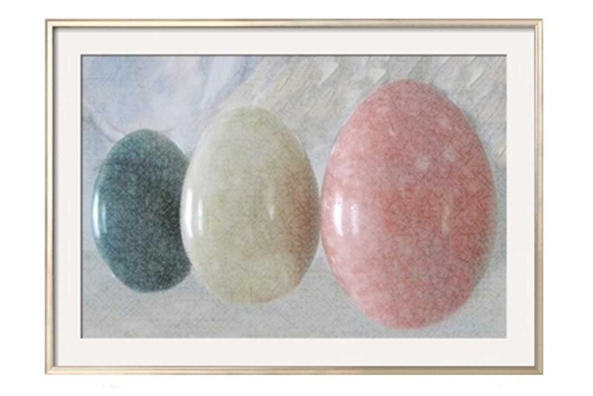 Easter Photograph Eggs, Pastel CRACKLED MARBLE EGGS , 36 x 24,  Minimalist Modern Fine Art Photograph