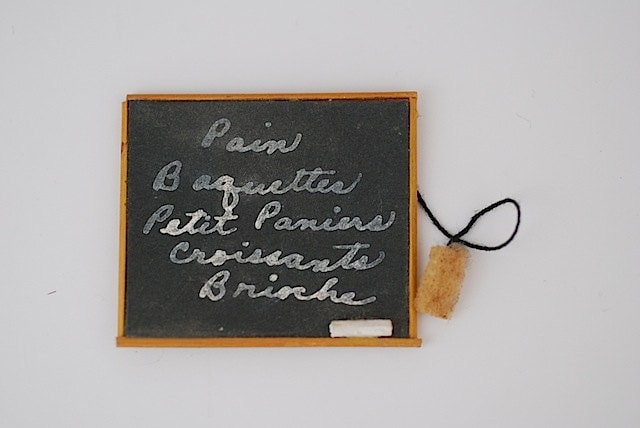 Back to School Miniature Chalkboard, Made in 1950, Gift For Girlfriend, Paris, Doll House Decor, Teenie Toys, - TheNewtonLabel
