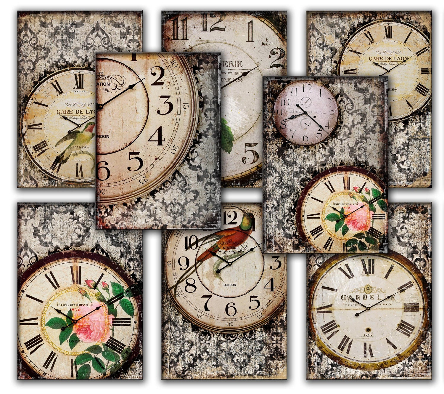 Clocks Old Vintage Retro Antique Shabby Chic by ...