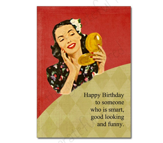 Items Similar To Retro Vintage Birthday Humour Card On Etsy