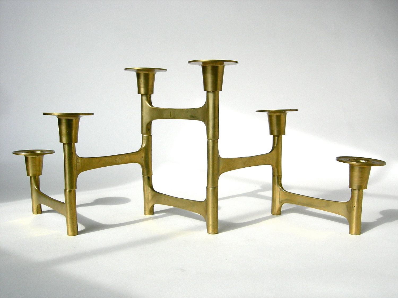 Vintage Folding Brass Candleholder