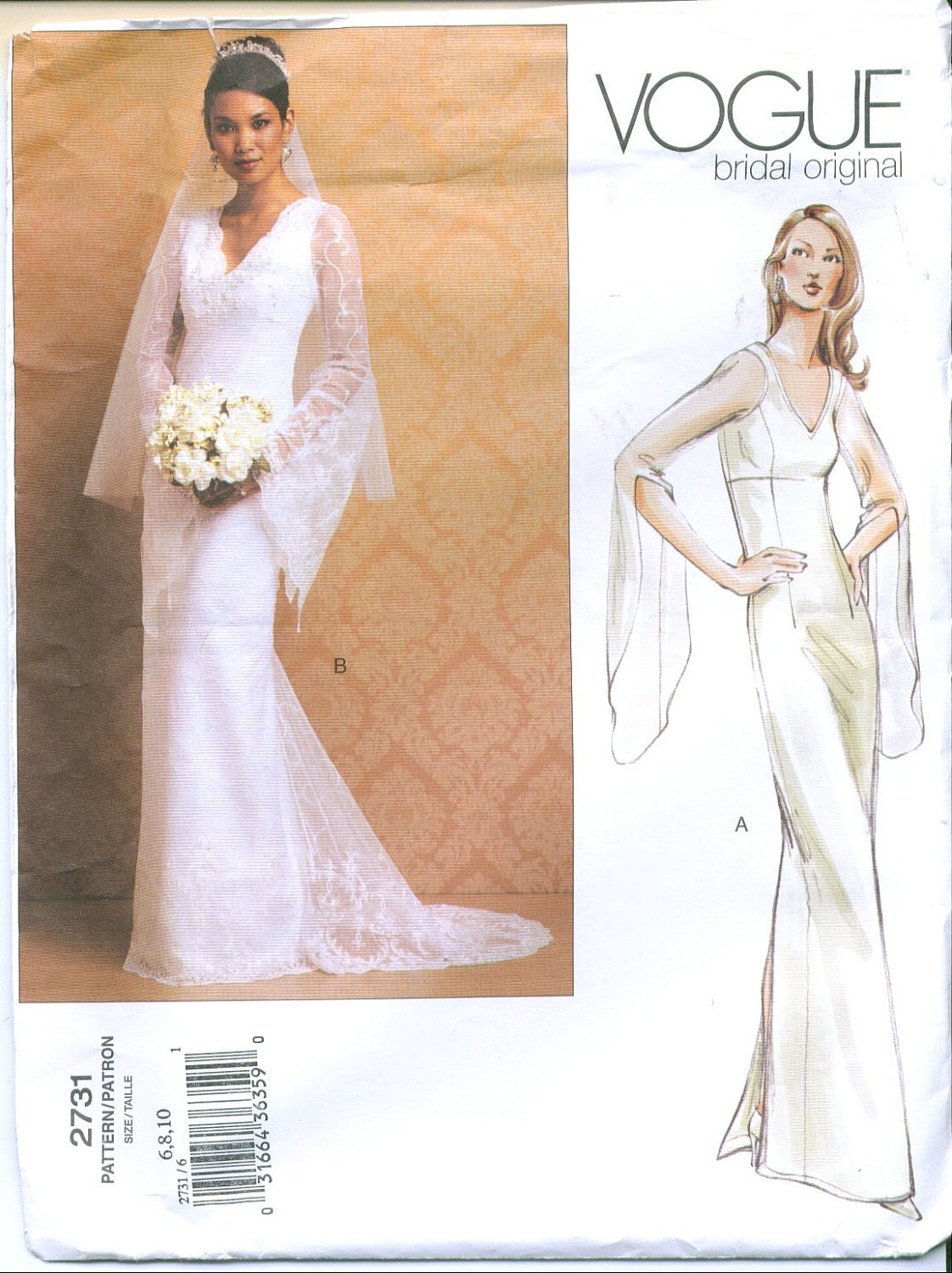 Vogue 2731 Bridal Wedding Gown Sewing Pattern By Sewingandsuch