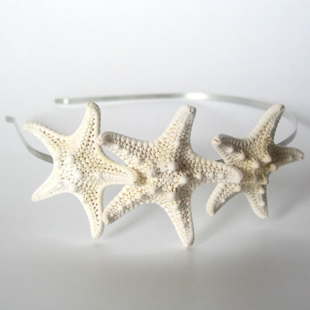Реальная Тройной головная повязка Starfish узловатые