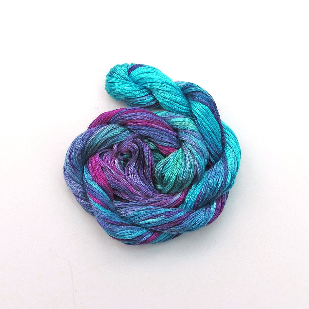 Hand Dyed Embroidery Floss Embroidery Thread 20m By