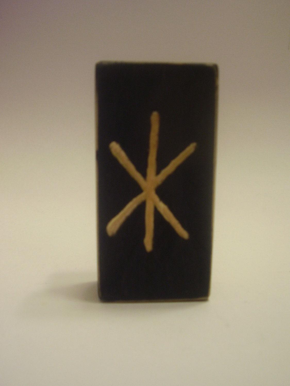 wooden viking rune symbol of strength by winterdays on etsy