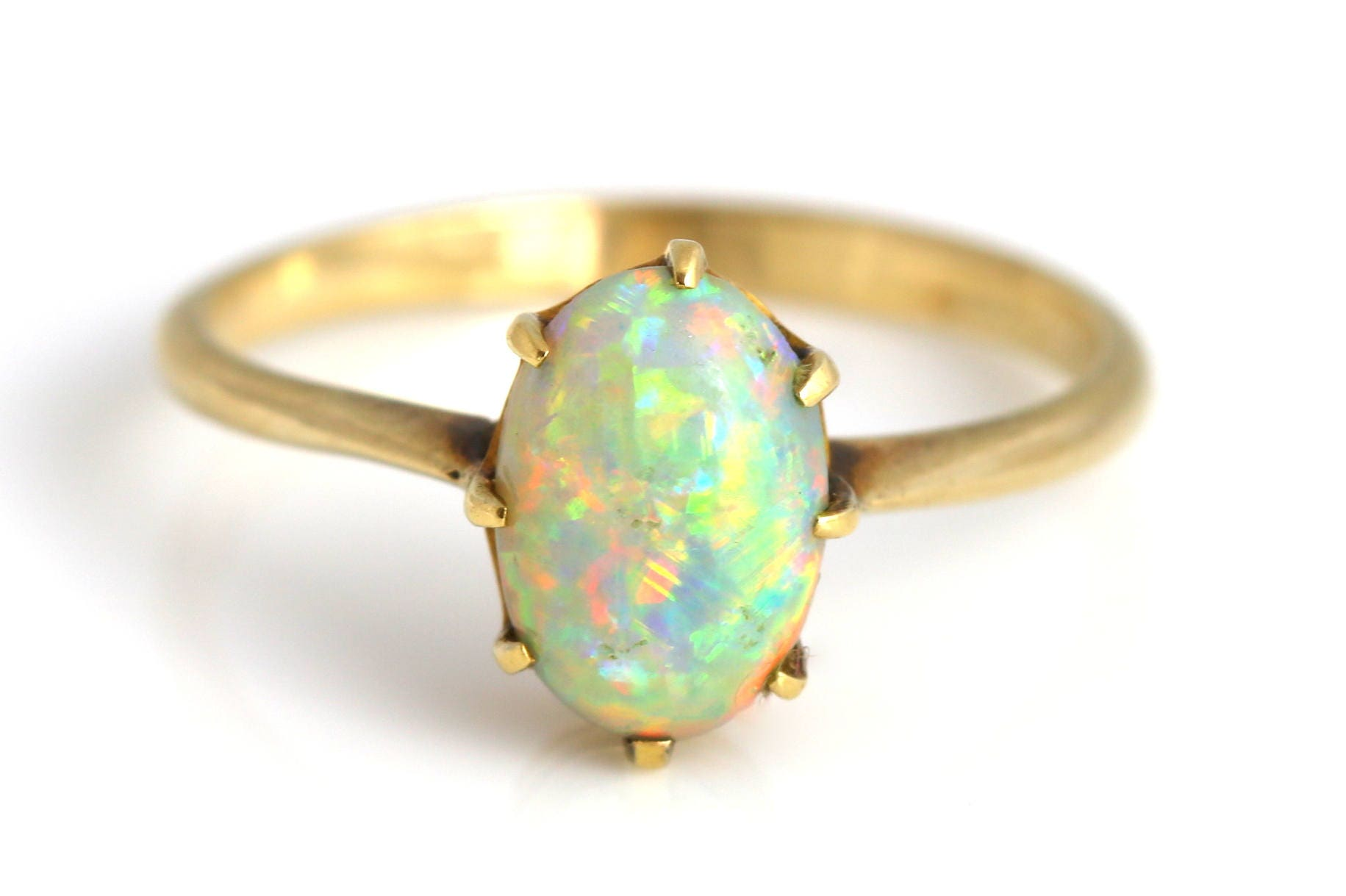 9ct Gold Antique Opal Ring Stunning 9ct Gold Art Nouveau Opal Ring  c1900