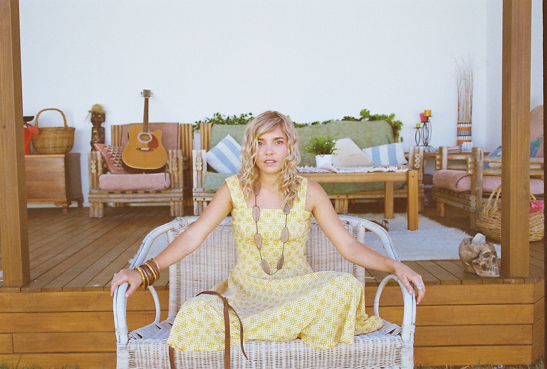 Vintage Yellow Summer Dress, Floral Hippie Dress - VanyaVintage