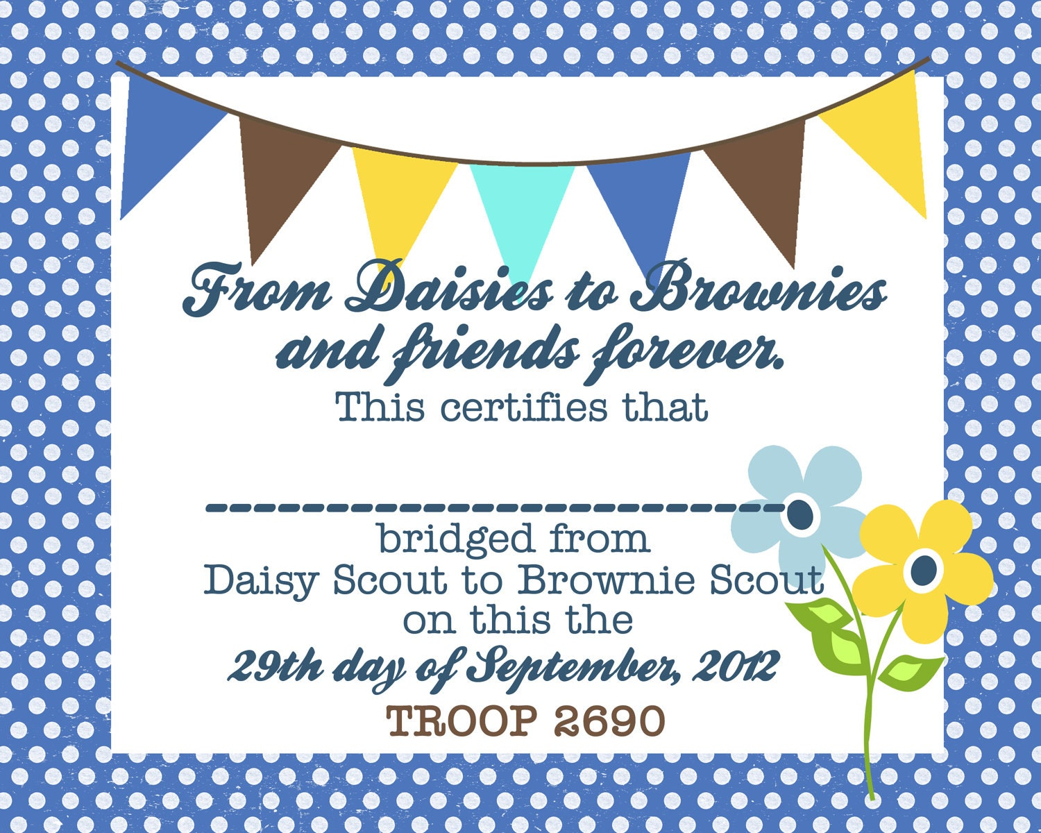 Printable Daisy Girl Scout Certificates