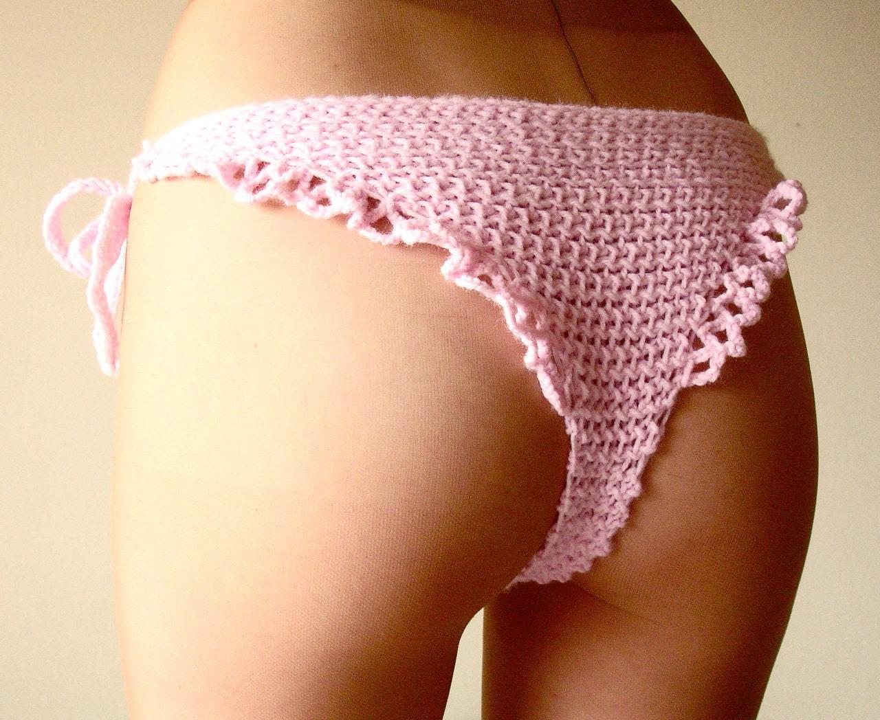 Crocheting Underwear : Crochet underwear womens handmade knit ruffle by laMarmotaCafe