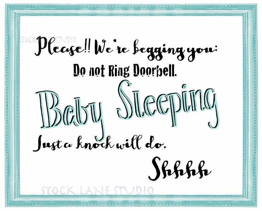 Baby Sleeping Sign Front Door Image Collections Door Design For Home