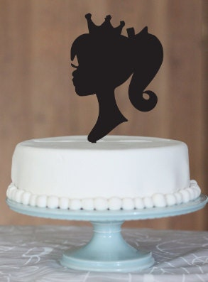 Items Similar To First Birthday Silhouette Cake Toppers